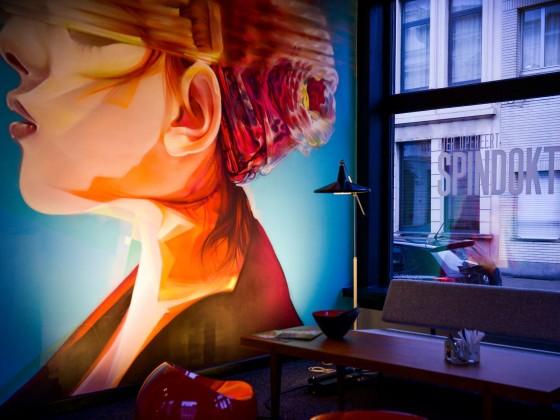 Uitlichting graffiti @ Spindokter, Antwerpen
